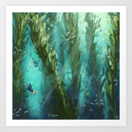 Forest Depths Art Print