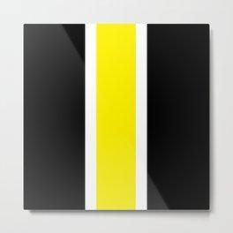 TEAM COLORS 10....YELLOW,BLACK Metal Print