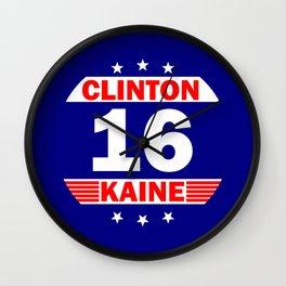Clinton Kaine 16 Wall Clock