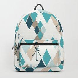 Mid Century Modern Diamonds (Teal) Backpack