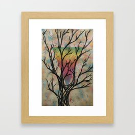 Colors through the trees Framed Art Print