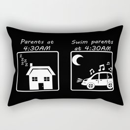 Swim Parents at 4:30AM BLACK/WHITE Rectangular Pillow