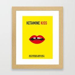 Ketamine Kiss Framed Art Print