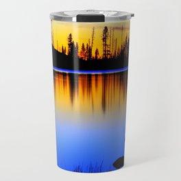 Silver ,Blue,and Gold.. Travel Mug