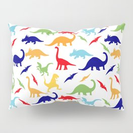 Colorful Dinosaurs Pattern Pillow Sham