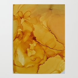 Yellow Smoked Ink Poster