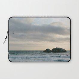 Misty Sunset over Pacific Ocean Laptop Sleeve