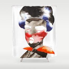 Dark Skinned Fashion Soldier Shower Curtain