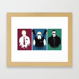 Blood & Ice Cream Framed Art Print