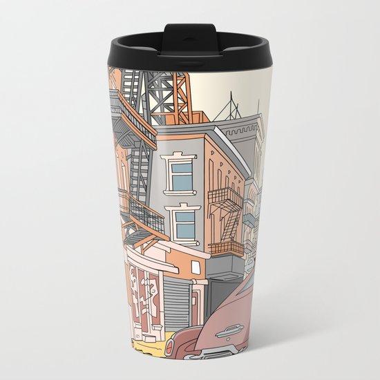 Downtown New York Metal Travel Mug