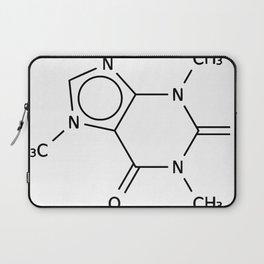 Molecular Structure of Caffeine Laptop Sleeve