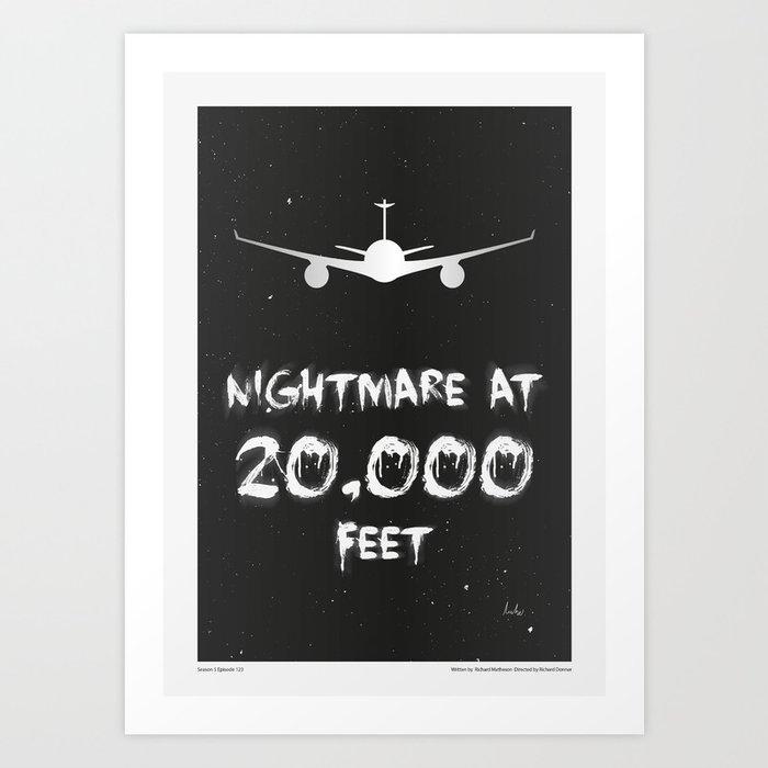 """The Twilight Zone"" Nightmare at 20,000 Feet Kunstdrucke"