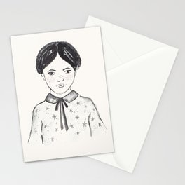 A little girl and the stars Stationery Cards