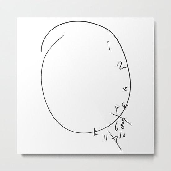 Savoureux - Hannibal Clock Metal Print