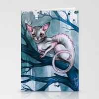 cheshire Stationery Cards featuring Cheshire Cat by Black Fury