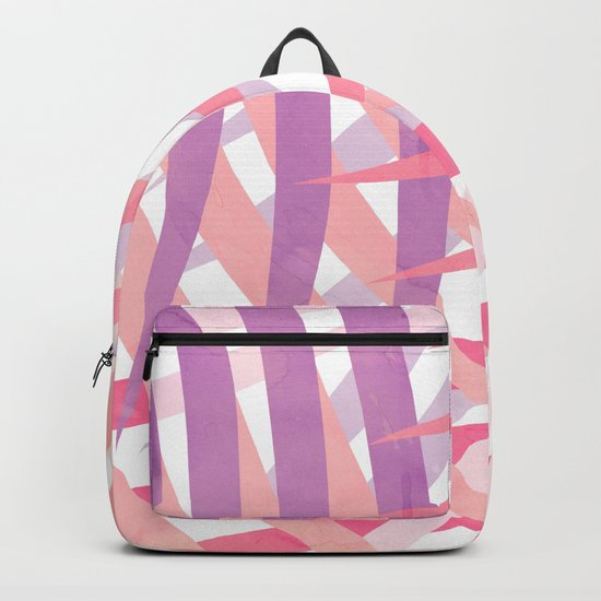 Pink Shadows Palms Backpack