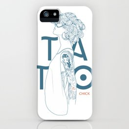 TATTOO CHICK WHITE iPhone Case