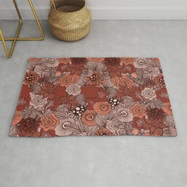 Classic Floral Pattern  Rug
