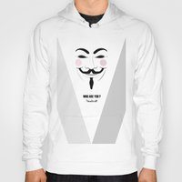 anonymous Hoodies featuring Anonymous by Nena Loca