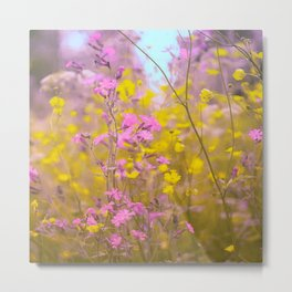 Happy day at meadow Metal Print
