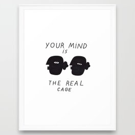 REAL CAGE Framed Art Print