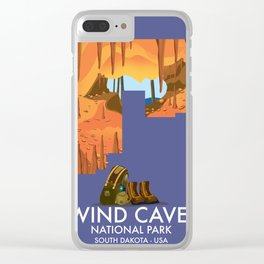 Wind Cave National Park Clear iPhone Case