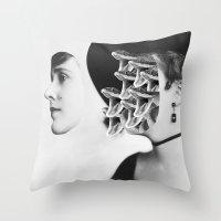 inner demons Throw Pillows featuring Inner Demons by Tyler Spangler