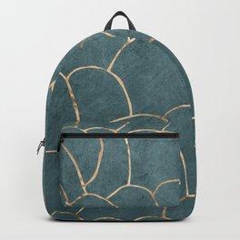Azure gold geodes Backpack