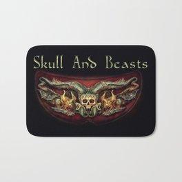 Skull And Beasts 2 Bath Mat