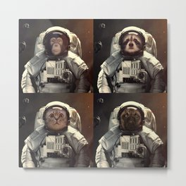 animals astronaut in the universe Metal Print