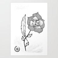 ROSE&FEATHER Art Print