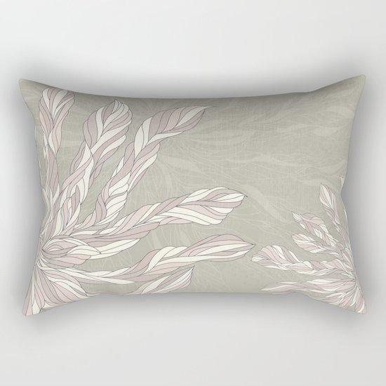 Flower Power Earthtones Rectangular Pillow