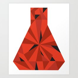 Science Ruby Art Print