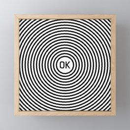 OK Framed Mini Art Print