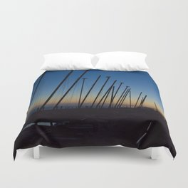 Boats in The Night Duvet Cover