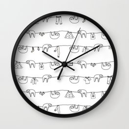 Sloth Laundry Time Wall Clock