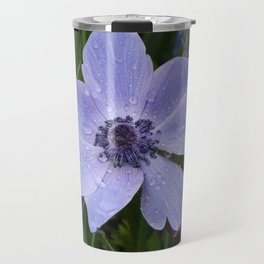 Purple flower with dew drops I Nature I Spring I Garden I Photography Travel Mug