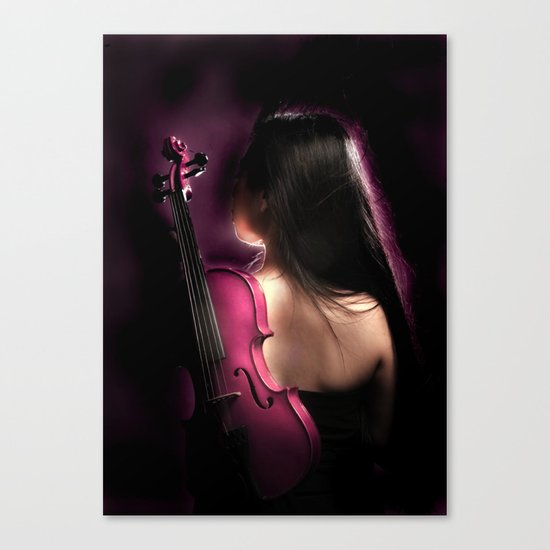 VIOLIN WOMAN Canvas Print