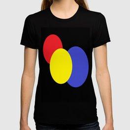 Red Yellow & Blue : Mod Circles T-shirt