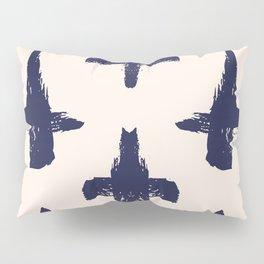 Sketched inked blue crosses Pillow Sham