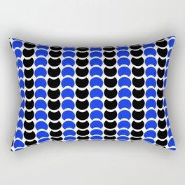 HobNob BlueBlack Print, Canvas and Laptop/iPad Skin Rectangular Pillow