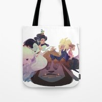 labyrinth Tote Bags featuring Labyrinth by Ann Marcellino