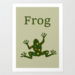 spotty frog art print Art Print