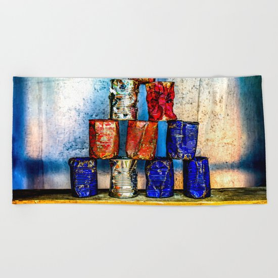 Soup Cans - Square Meal Beach Towel