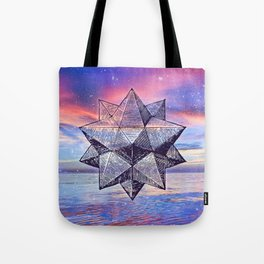 Sacred Geometry Universe 8 Tote Bag