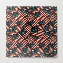 Patriotic Grunge Style American Flag Metal Print