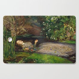 Ophelia Painting by John Everett Millais Cutting Board