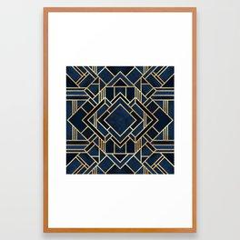 Art Deco Fancy Blue Framed Art Print