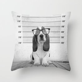 Guilty Puppy Throw Pillow