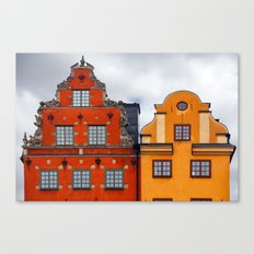 Stockholm. Colorful Houses in Gamla Stan Canvas Print